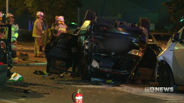 The worst of the four crashes was a hit-and-run at Windsor on Brisbane's northside, which killed two.