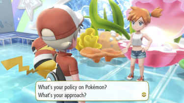 Your partner Pokemon sits on your shoulder or head the whole time, and will pipe up when it wants attention.