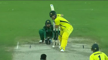 Aaron Finch has fallen 10 runs short of becoming the first Australian to post three consecutive one-day international tons.