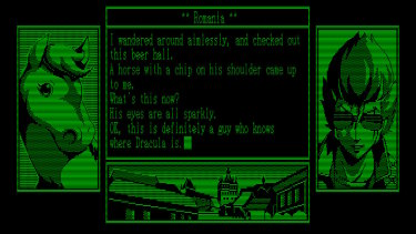 The globe-spanning story is told like an old text-based DOS adventure.
