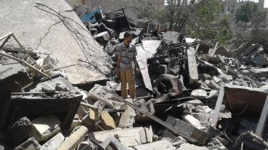 The house of Sheikh Mohamed Ghanim al-Saffar, destroyed in an air strike on June 13, 2017, killing 35 members of the extended Saffar family.