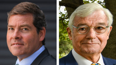 Oliver Yates (Independent) and Julian Burnside (Greens) are challenging Josh Frydenberg in Kooyong.