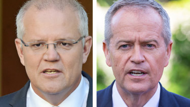 Scott Morrison and Bill Shorten taking the campaign to Randwick.