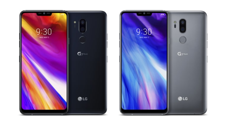 The G7 is all business around the back, with the standard fingerprint sensor and a pair of cameras.