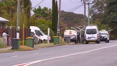 The scene of the police shooting in Gosnells on Monday morning.