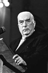 Liberal party icon Sir Robert Menzies in 1965.