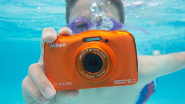 The camera is rated waterproof for up to 10 metres.