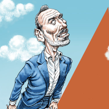 Jetstar chief Gareth Evans' star is rising. Illustration: Joe Benke