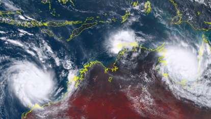 'Dangerous' cyclones to soak and batter Australia's north