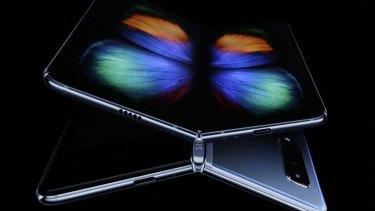 Samsung's DJ Koh unveils the Galaxy Fold in February.