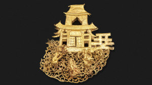 This gold 'moon palace' ornament from the Ming dynasty (1368-1644). is expected to fetch between $2000-3000 at Bonhams' upcoming Elegant Embellishments auction on August 8.