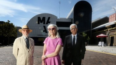Opponents of the museum move: Clive Lucas, Penelope Seidler and Nick Pappas.
