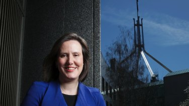 Kelly O'Dwyer at Parliament House last year.