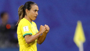 Marta broke the World Cup goalscoring record with her penalty against Italy.