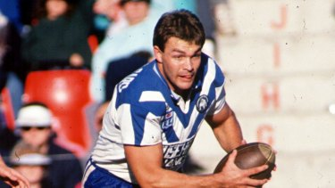 Paul Dunn during his playing days for Canterbury.