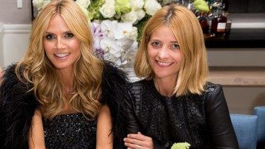 Famous friends: Heidi Klum and Kellie Hush.