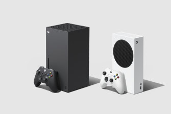 The Xbox Series X, left. and Xbox Series S.