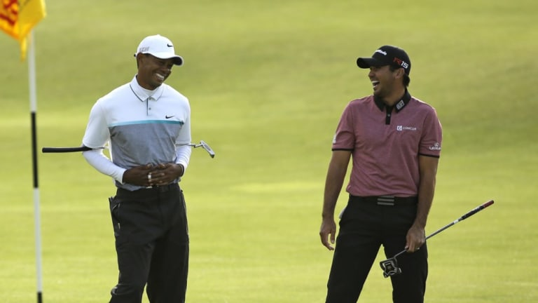 Mutual respect: Jason Day can't wait to tee it up with Tiger Woods this week.