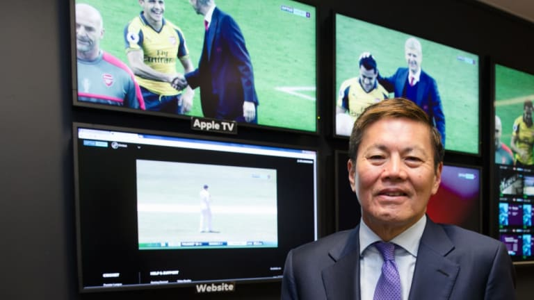 Optus chief executive Allen Lew has committed to his soccer strategy.