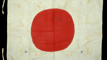 The Japanese flag going up for auction contains signatures placing it in the Krait.