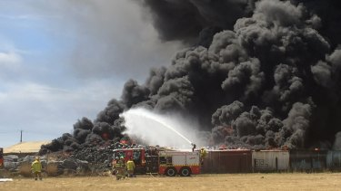 Stockpiled tyres pose a serious fire risk if precautions aren't followed.