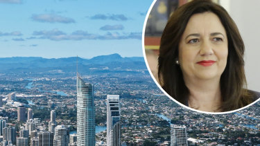 """Premier Annastacia Palaszczuk says Queensland is already seeing demand from southern travellers """"because they know, like we do, that Queensland is the place to be""""."""