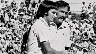 John Newcombe fought for nearly three hours to subdue America's Jimmy Connors and win the Australian Open at Kooyong in January 1975.