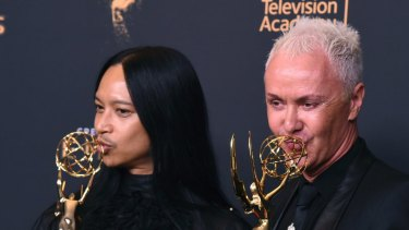Australian Perry Meek (right) was among the winners of last year's Creative Arts Emmys.