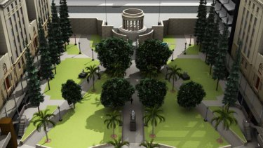 Stage four of the Anzac Square will include adding a lift and more grass