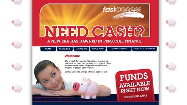 A screenshot of Fast Access Finance's website in 2012. It has since been taken down.