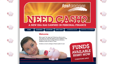 A screenshot of Fast Access Finance's website in 2012. It has since been taken down.