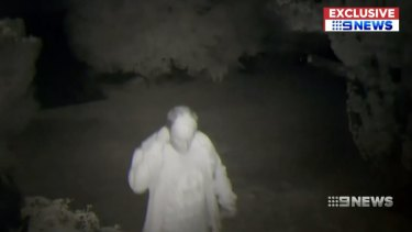 The man captured on CCTV.