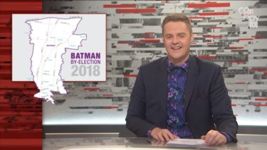 Tonightly with Tom Ballard was investigated by the broadcasting watchdog over this sketch on the Batman by-election.
