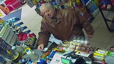 CCTV video of Sergei Skripal shops at a store in Salisbury the month before he was poisoned.