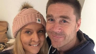 Australian firefighter Troy Thornton, pictured with his wife Christine, died in a Swiss euthanasia clinic.