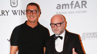 Italian fashion designers Domenico Dolce, right, and Stefano Gabbana say their company's Instagram account was hacked.