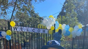 Balloons welcomed students back on Monday, but on Wednesday the school was closed due to COVID-19