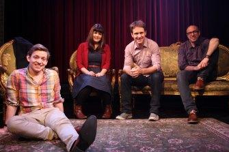 The Giant Dwarf crew in happier times: Ben Jenkins, Zoe Norton Lodge, Craig Reucassell and Julian Morrow.