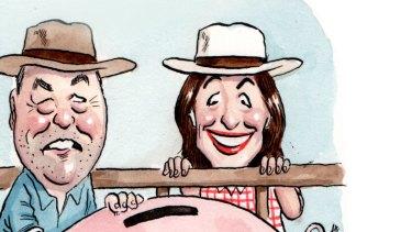 Newly minted Queensland Senator Susan McDonald challenged Victorian farmer Peter Schwarz for the role of treasurer