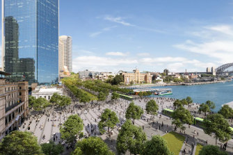 Architecture firm Bates Smart'sconcept of what Circular Quay could look like.