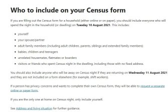 The 2021 census urges people to include unrelated housemates, flatmates or boarders visitors or friends who spent census night in the dwelling, including those with no fixed address.