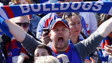 Fans gathered at Whitten Oval to celebrate the club's famous 2016 premiership.
