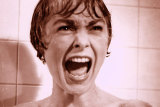 Janet Leigh in the famous shower scene in Psycho.