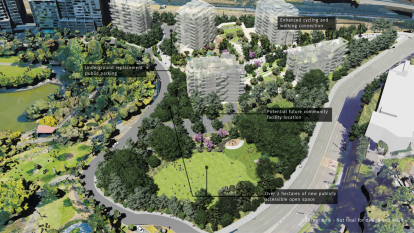 Extra green space – and apartments – approved for Roma Street Parklands