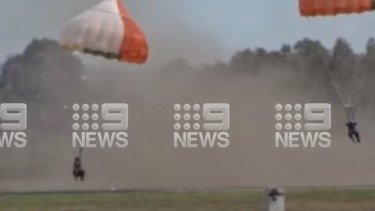 Two pilots ejected after a fighter jet crashed during take-off at Amberley Airbase.