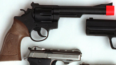 Police charged the young boy with armed robbery after he allegedly pulled out a toy gun.