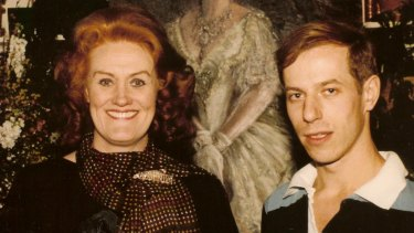 Michael Stennett with Dame Joan Sutherland.