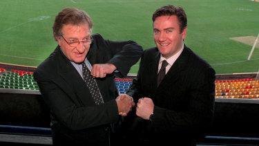 Former Carlton president John Elliott described long-time Collingwood boss Eddie McGuire as a good friend.