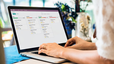 Odoo's solution aims to streamline business processes digitally.