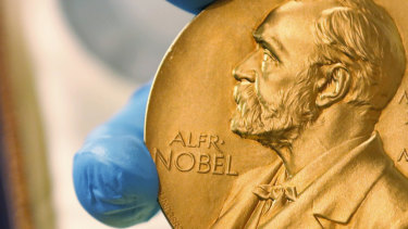 The medal awarded to Nobel Prize recipients.